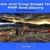 Resize And Crop Image Using PHP And jQuery