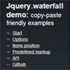 Waterfall : jQuery Pinterest-like layout Plugin