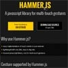 Hammer.js : A jQuery library for multi touch gestures with Demo