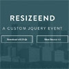 ResizeEnd : jQuery Window Resize-end Event Plugin