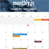 Monthly.js : jQuery Event Calendar Plugin